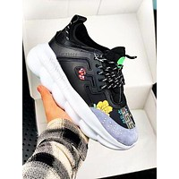 Versace tide brand men's and women's wild platform sneakers shoes