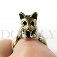 Miniature Kitty Cat Ring in Bronze Sizes 5 to 9 available | dotoly - Jewelry on ArtFire