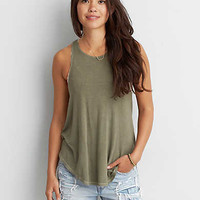 AEO Soft & Sexy Hi-Neck Tank, Fatigue Olive