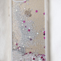 Silver Star Glitter iPhone Case