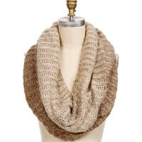 Taupe Ombre Infinity Scarf