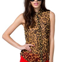 Hot Leopard Top