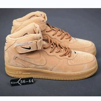 NIKE Air Force 1 Mid Women Men Fashion Casual Shoes Sneakers Brown I-HAOXIE-ADXJ