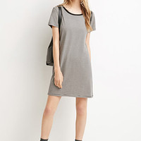 Micro-Striped T-Shirt Dress