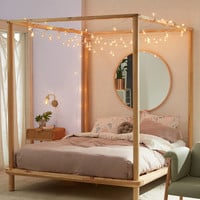 Eva Wooden Canopy Bed | Urban Outfitters