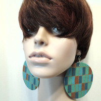 Attrative Multiple Colors Womens Fabric Earrings, Women Earrings, Fashion Earrings, Fabric Earring, Large Earrings