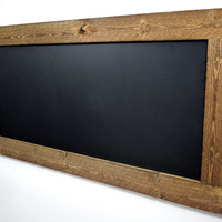Large rustic framed chalkboard or white dry erase board - Reclaimed wood chalkboard - Eco friendly - Wall hanging chalkboard - Rustic signs