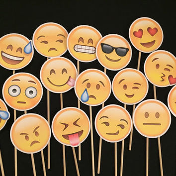 Emoji Face Photo Booth Props