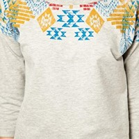 Vero Moda Feather Aztec Print Sweater at asos.com
