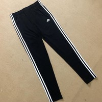 Adidas Womens Classic Black Three Stripe Pants Sweatpants One-nice™
