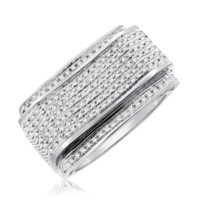 0.41 Cttw Diamond Micropave Mens Ring