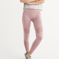 Womens Active Mesh Pieced Leggings | Womens Activewear | Abercrombie.com