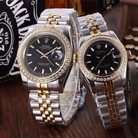 """ROLEX"" Lover Fashion Luxury Diamond Quartz Watch Casual Wristwatch"