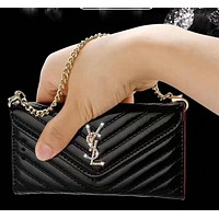 YSL plated Handbag leather cover 7plus cover iphone 6s patent leather case 6SPLUS shell Tagre™