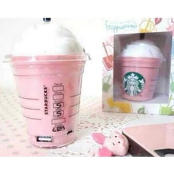 Pink Green White Black Starbucks Cup iPhone Samsung Portable Charger External Battery Power Bank
