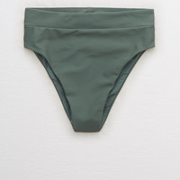 Aerie High Cut Cheeky Bikini Bottom, Royal Palm