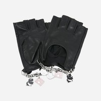 ‎K/Charm Leather Gloves ‎ - Karl Lagerfeld