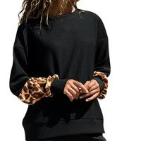 Leopard Print Long Sleeve Pullover