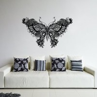ik298 Wall Decal Sticker Decor beautiful delicate butterfly insect interior living bed children