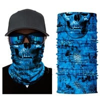 Red Skull Bandana Hiking Biking Running Skiing Motorcycle Face Shield Sun Mask Balaclava