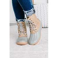 Persimmon Lace Up Duck Boots | Sage