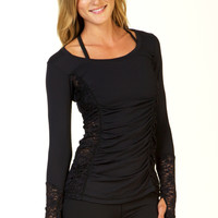 Women's Yoga Inspired Long sleeve Shirt top