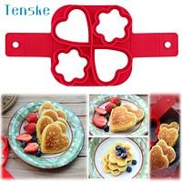 tenske Silicone Fried Egg Pancake Ring Omelette Fried Eggs Mould for Cooking Breakfast Frying Pan Oven u70509 DROP SHIP