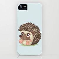 Hedgehog iPhone & iPod Case by Toru Sanogawa