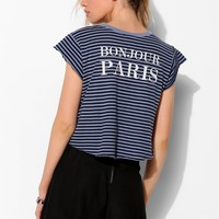 Truly Madly Deeply Stripe Bonjour Tee - Urban Outfitters
