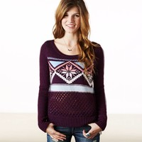 AEO Women's Fair Isle Crew Sweater
