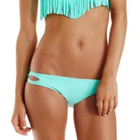 Mint Cut-Out Bikini Bottoms by Charlotte Russe