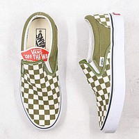 Vans Tartan Woman Men Canvas Old Skool Flats Sport Shoes