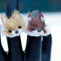 Furry Fox Face Adjustable Ring