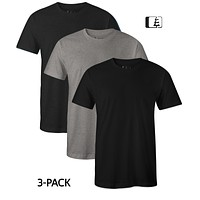 3-Pack 60/40 Blend T-Shirt Black/Grey/Charcoal