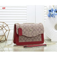 Coach Fashion New Pattern Leather Chain Shopping Leisure Shoulder Bag Women 4#