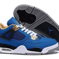 ONETOW Jacklish Eminem X Carhartt X Air Jordan 4 Canvas Game Blue/black-white-grey Online