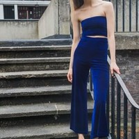 Royal Blue Velvet Co-ord