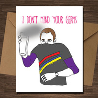 Sheldon Cooper Big Bang  Theory Funny Get well Anniversary Valentine Birthday Card