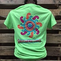SALE Southern Chics Sun Sunshine Girlie Bright  Lime T Shirt