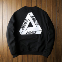 Black Womens PALACE Pullover Sweatshirt