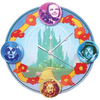 Dorothy, Scarecrow, Tin Man, & Lion Wall Clock