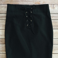 Cara Lace Up Skirt