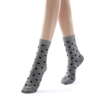 Polka Party Glitter Ankle Sock | Silver