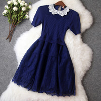 Knitted Dress in Blue