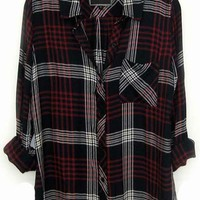 Rails Hunter Plaid Shirt in Indigo/White