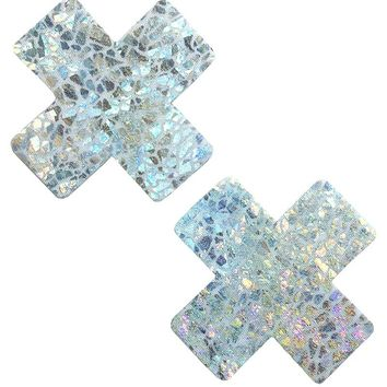 Cross Pasties in Shattered Glass