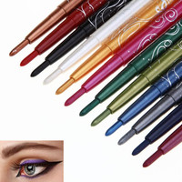 2017 New arrival 12 Colors Eyebrow Glitter Shadow Lip EyeLiner Pencil Pen Beauty Cosmetic Makeup tools Foundation Eyeshadow Pen