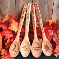 Personalized Haunted Halloween Spoons