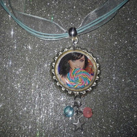 Katy Perry Necklace,  Katy Perry Bottle Cap Necklace