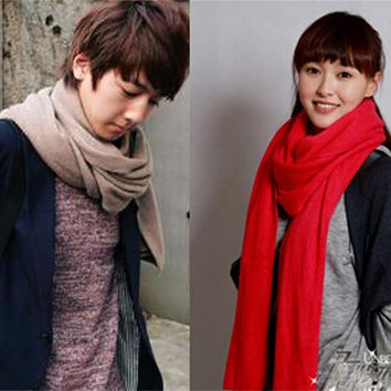 Super Long Knitted Solid Scarf - 15 Colors